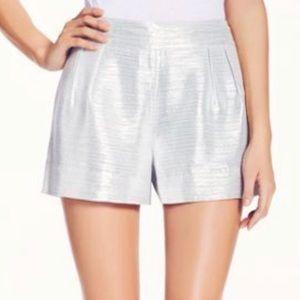 """Kate Spade metallic silver side-zip shorts 3.5"""""""
